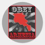 Obey Armenia Classic Round Sticker