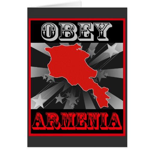 Obey Armenia Greeting Card