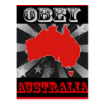 Obey Australia Post Cards