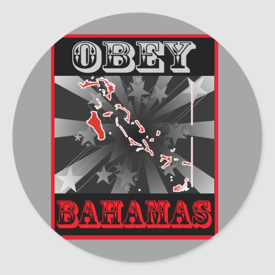 Obey Bahamas Classic Round Sticker