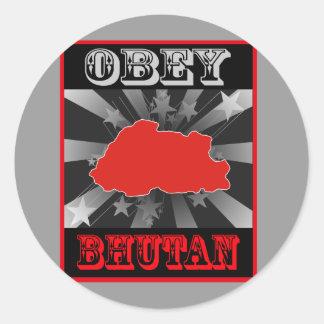 Obey Bhutan Stickers