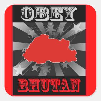 Obey Bhutan Square Stickers