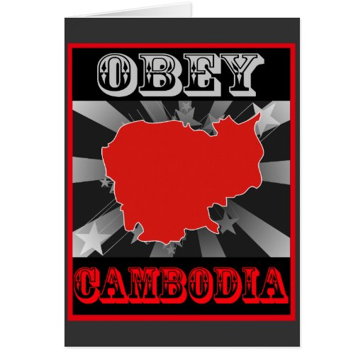 Obey Cambodia Greeting Card