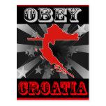 Obey Croatia Postcard