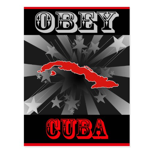 Obey Cuba Postcard