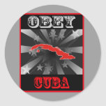 Obey Cuba Round Stickers