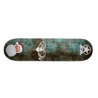Obey Father Christmas when he rides a skateboard