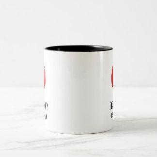 Obey Gravity Two-Tone Coffee Mug