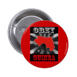 Obey Guinea Pinback Buttons
