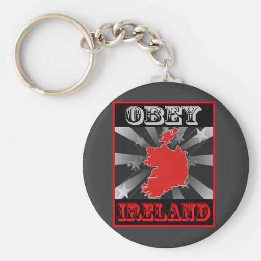 Obey Ireland Key Chain