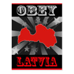 Obey Latvia Postcard