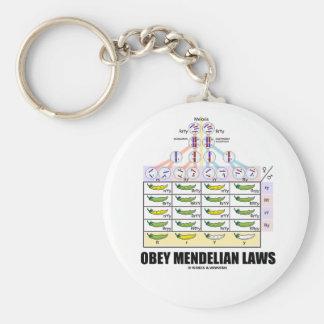 Obey Mendelian Laws (Dihybrid Cross Peas) Basic Round Button Keychain