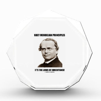 Obey Mendelian Laws Of Inheritance (Gregor Mendel) Acrylic Award