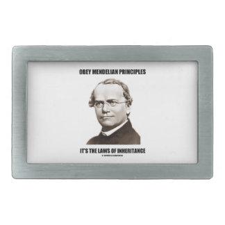 Obey Mendelian Laws Of Inheritance (Gregor Mendel) Belt Buckle