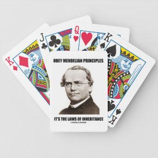 Obey Mendelian Laws Of Inheritance (Gregor Mendel) Bicycle Playing Cards