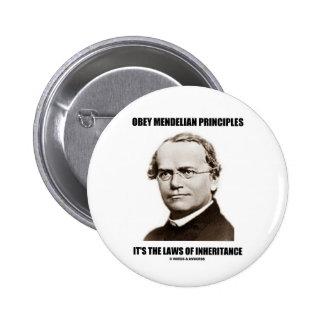 Obey Mendelian Laws Of Inheritance (Gregor Mendel) Button
