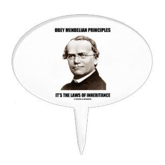 Obey Mendelian Laws Of Inheritance (Gregor Mendel) Cake Topper