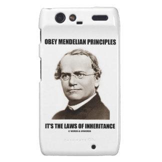Obey Mendelian Laws Of Inheritance (Gregor Mendel) Droid RAZR Cover