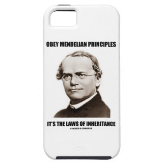Obey Mendelian Laws Of Inheritance (Gregor Mendel) iPhone 5 Cover