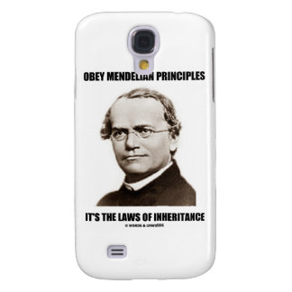 Obey Mendelian Laws Of Inheritance (Gregor Mendel) Galaxy S4 Cases