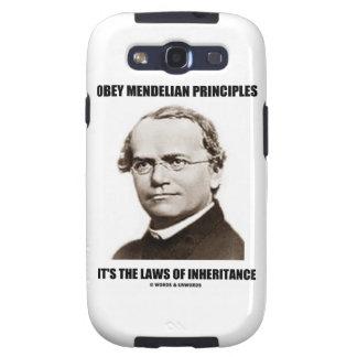 Obey Mendelian Laws Of Inheritance (Gregor Mendel) Galaxy SIII Covers