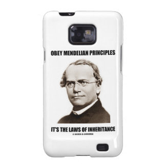 Obey Mendelian Laws Of Inheritance (Gregor Mendel) Galaxy SII Case