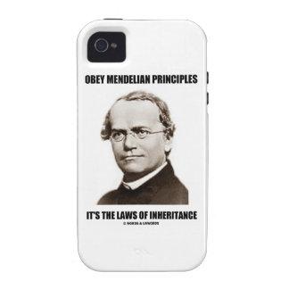 Obey Mendelian Laws Of Inheritance (Gregor Mendel) iPhone 4 Cases