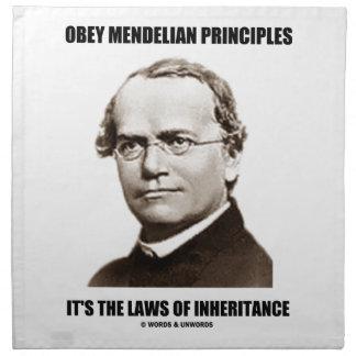 Obey Mendelian Laws Of Inheritance (Gregor Mendel) Cloth Napkin