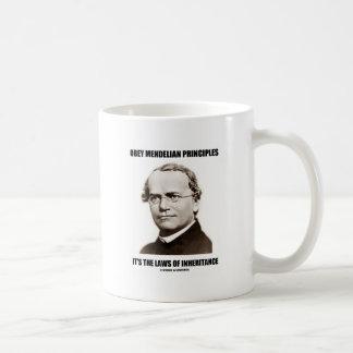 Obey Mendelian Laws Of Inheritance (Gregor Mendel) Coffee Mug