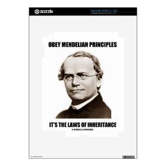 Obey Mendelian Laws Of Inheritance (Gregor Mendel) Decal For iPad 2