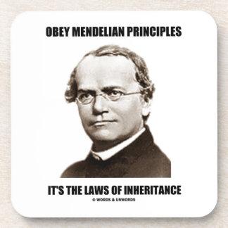 Obey Mendelian Laws Of Inheritance (Gregor Mendel) Drink Coaster