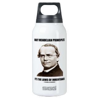 Obey Mendelian Laws Of Inheritance (Gregor Mendel) Insulated Water Bottle