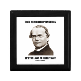 Obey Mendelian Laws Of Inheritance (Gregor Mendel) Jewelry Box