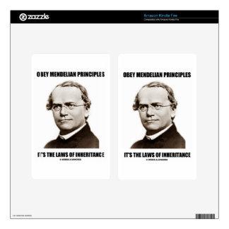 Obey Mendelian Laws Of Inheritance (Gregor Mendel) Kindle Fire Decal