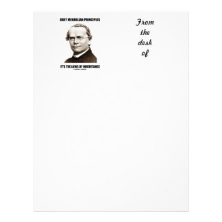 Obey Mendelian Laws Of Inheritance (Gregor Mendel) Letterhead