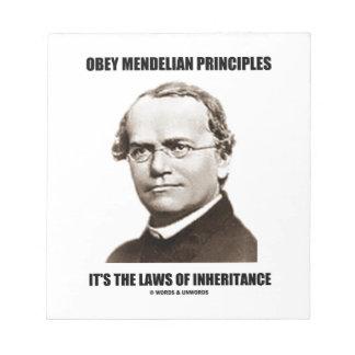 Obey Mendelian Laws Of Inheritance (Gregor Mendel) Notepad
