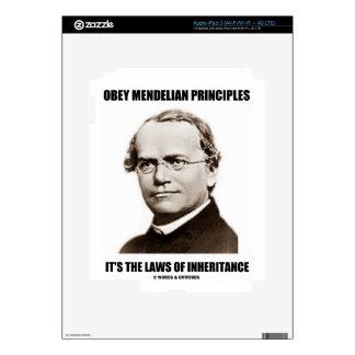 Obey Mendelian Laws Of Inheritance (Gregor Mendel) Skins For iPad 3