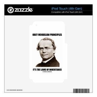 Obey Mendelian Laws Of Inheritance (Gregor Mendel) Skins For iPod Touch 4G