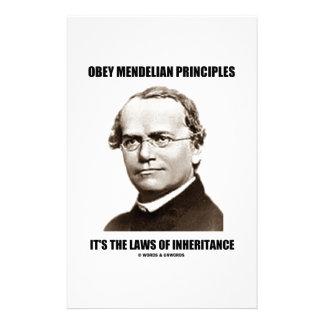 Obey Mendelian Laws Of Inheritance (Gregor Mendel) Stationery
