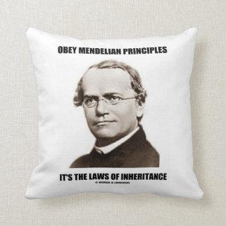 Obey Mendelian Laws Of Inheritance (Gregor Mendel) Throw Pillow