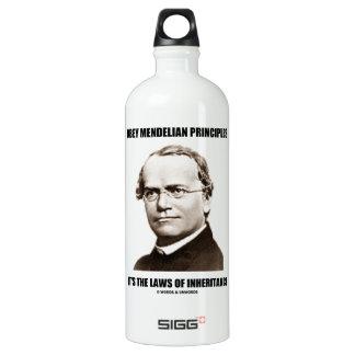 Obey Mendelian Laws Of Inheritance (Gregor Mendel) Water Bottle