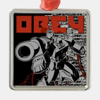 Obey Metal Ornament