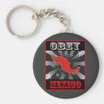 Obey Mexico Keychain