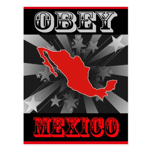 Obey Mexico Post Cards