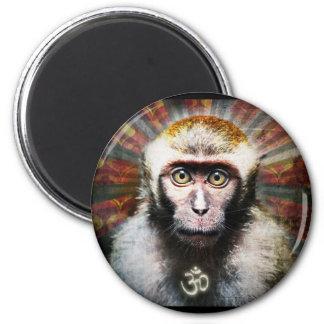 obey my monkey 2 inch round magnet