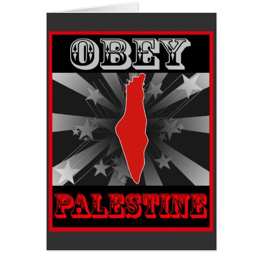 Obey Palestine Greeting Card