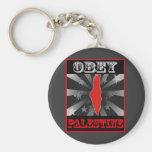 Obey Palestine Keychains