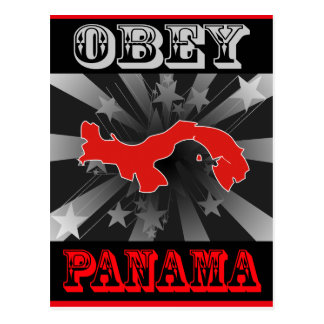 Obey Panama Postcard