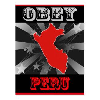 Obey Peru Post Card