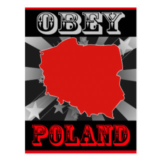 Obey Poland Post Card